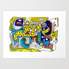 Squoodle 5 Art Print