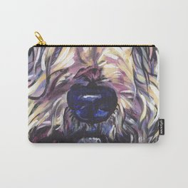 Wheaten Terrier Fun Dog Portrait bright colorful Pop Art Painting by LEA Carry-All Pouch