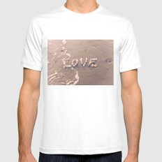 Washing over Love White Mens Fitted Tee MEDIUM