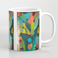 giraffes Mugs featuring Giraffes by Silke Powers