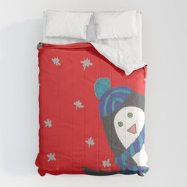 Cheerful Holiday Penguin Comforters