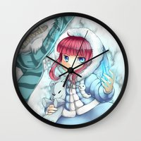 league of legends Wall Clocks featuring League of legends Annie by Rikku Hanari