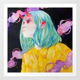 Oni girl Art Print