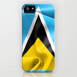Saint Lucia Flag iPhone Case