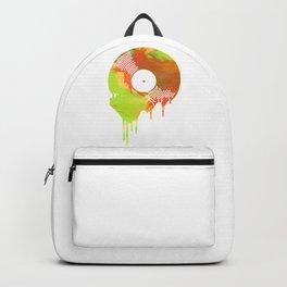 Graffiti Meting Vinyl Record Backpack