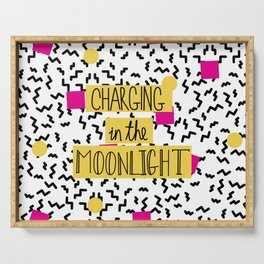 Charging in the Moonlight Serving Tray