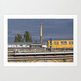 Yellow Train - Berlin Art Print