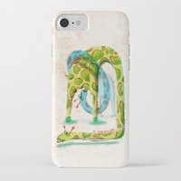 giraffes iPhone & iPod Cases featuring Giraffes by Orenso