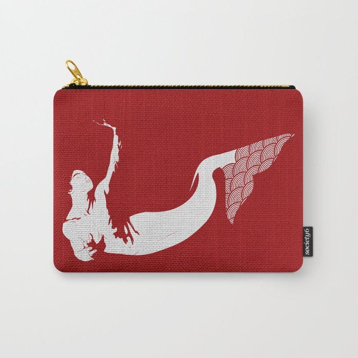 Merman - Red & White - Mermay 2019 Carry-All Pouch