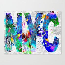 NYC Map Grunge Canvas Print