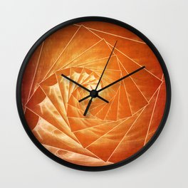 The Burning Eye Sees Spiral Wall Clock