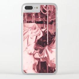 Burlington Carousel Clear iPhone Case