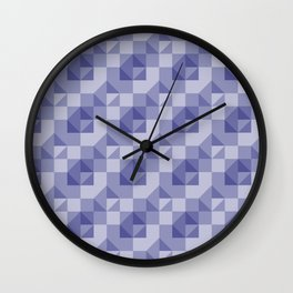 Slate Blue Geometric Wall Clock