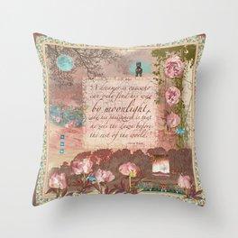 Peony Moon Throw Pillow