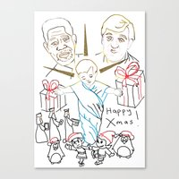atheist Canvas Prints featuring Atheist Christmas by Braven