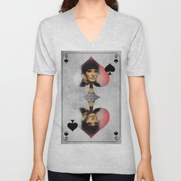 Queen of Spades Unisex V-Neck
