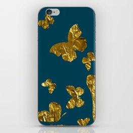 Butterfly kaleidoscope gold iPhone Skin
