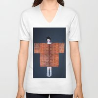 philosophy V-neck T-shirts featuring Philosophy of a Geisha by Kristina Haritonova