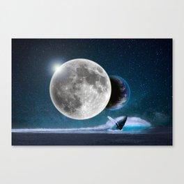 Blue Whale by GEN Z Canvas Print