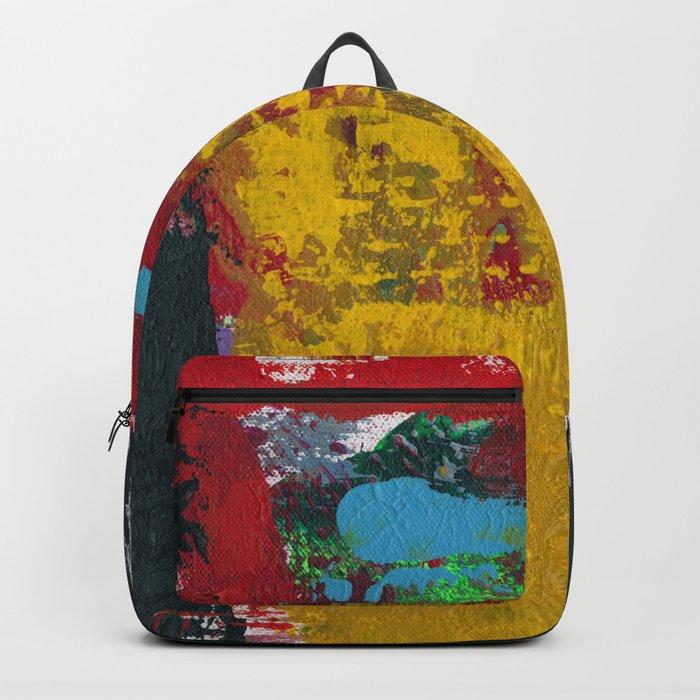 Baron Modern Art Black Backpack
