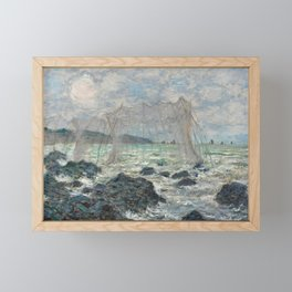 Claude Monet - Fishing nets at Pourville, 1882 Framed Mini Art Print