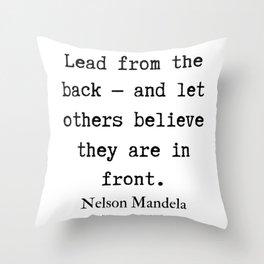 9    Nelson Mandela  Quotes   190818 Throw Pillow