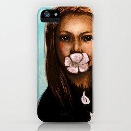 She only says nice things iPhone Case