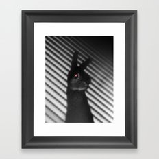 Shadow Bunny Framed Art Print