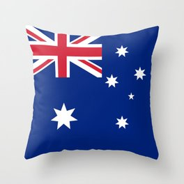 Flag of Australia - Authentic High Quality image Throw Pillow