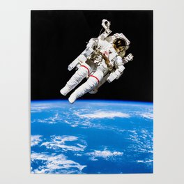 Astronaut Bruce McCandless Floating Free Poster