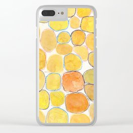 Cheerful orange Gathering Clear iPhone Case