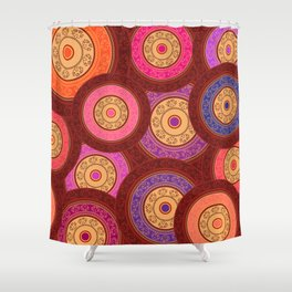 Ethnic Mandala Pattern Shower Curtain