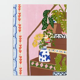 Bohemian stairs Poster