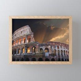 The Coliseum of Ancient Rome Framed Mini Art Print