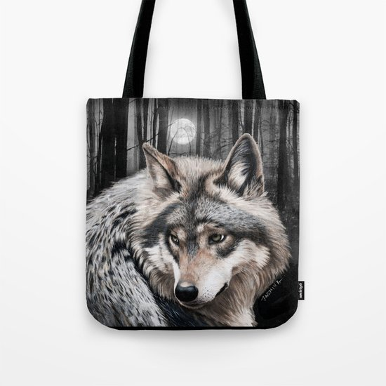 A Grey Wolf Artwork Tote Bag
