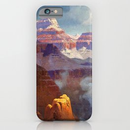 Temple of the Indian Gods (Grand Canyon) by William R. Leigh iPhone Case