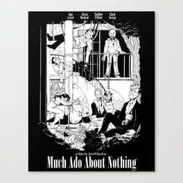 Much Ado About Nothing - Joss Whedon Poster #2 Canvas Print