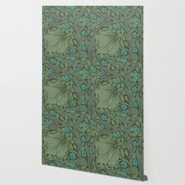William Morris Art Nouveau Forget Me Not Floral Wallpaper