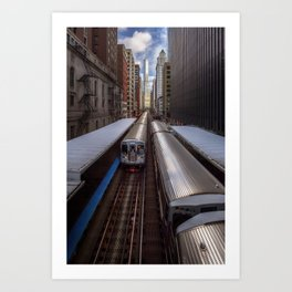 "Chicago ""L"" Art Print"