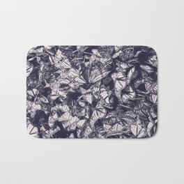 Indigo butterfly photograph duo tone blue and cream Bath Mat