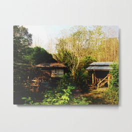 Little Houses in the Wood Metal Print