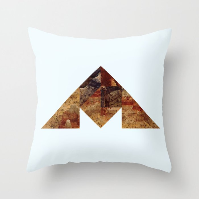 COAL MOUNTAIN Throw Pillow