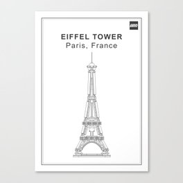 Eiffrl Tower Canvas Print
