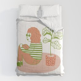 Slow Down Girl Comforters