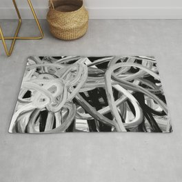 Black & White Abstract Rug