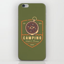 Compass Camping iPhone Skin