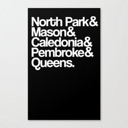 North Park Ampersand Dark Canvas Print