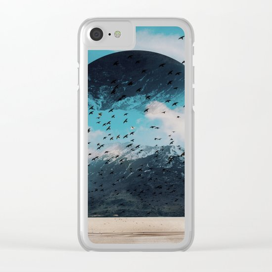The crows start singing Clear iPhone Case