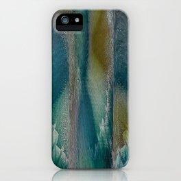 Industrial Wings in Teal iPhone Case