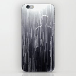disappearing in rain iPhone Skin